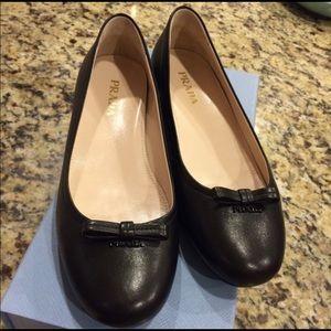 Prada leather flats size 7.5